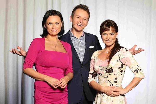Aktuální trio moderátorů zpráv Barrandova: Jana Adamcová, Petr Lesák, Olga Šípková. Foto: Martin Hykl