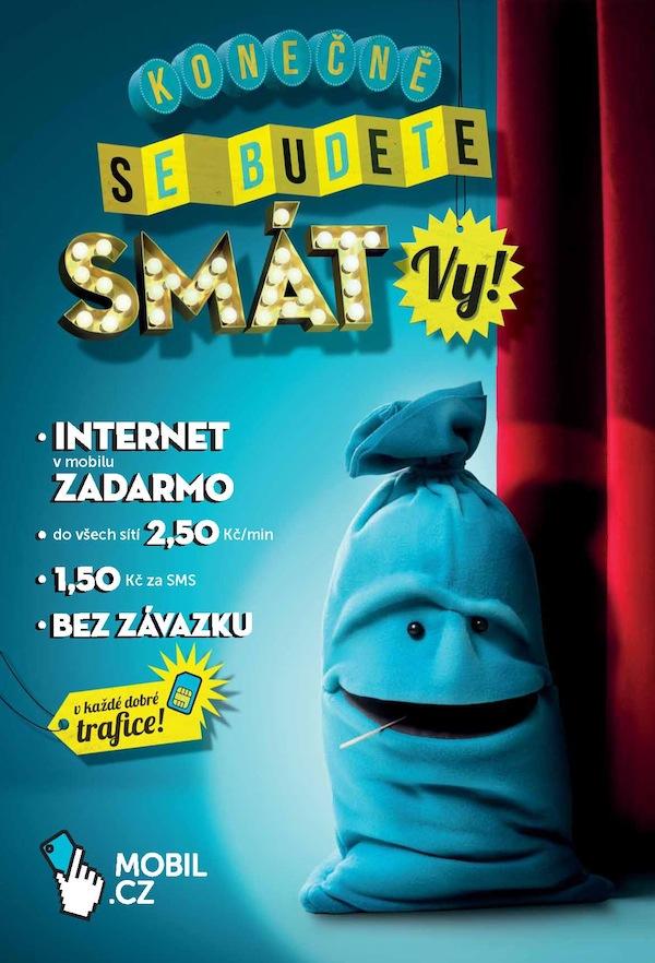 Klíčový vizuál tiskové inzerce Mobil.cz