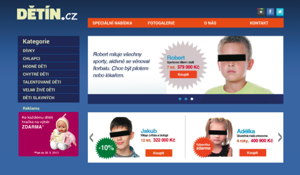 Fiktivní e-shop Dětín.cz