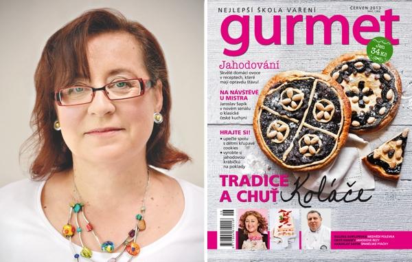 Jirka Rákosníková, nová šéfredaktorka časopisu Gourmet
