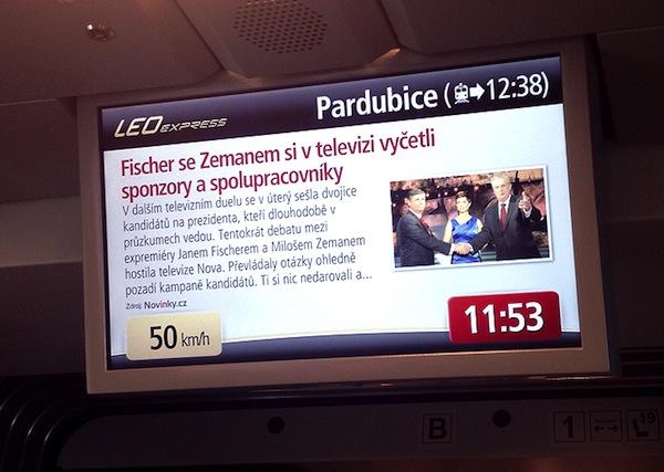 Obsah Novinky.cz ve vlacích Leo Expressu