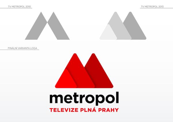 Dosavadní a nové logo televize Metropol