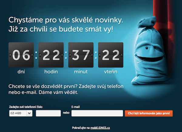 Odpočet na Mobil.cz