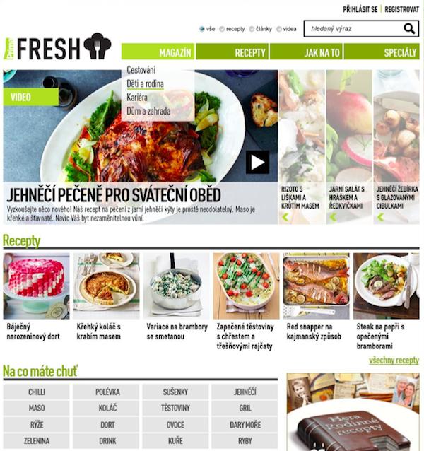 Podoba webu Prima Fresh