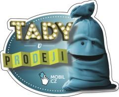 Ukázka z kampaně: samolepka Mobil.cz v trafikách