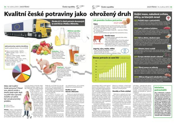 Týdeníky 5plus2 si budou hledět také českých potravin, jednoho z Babišových stěžejních témat