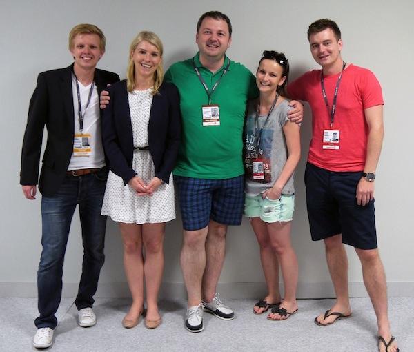 Čeští Mladí lvi v Cannes s organizátorem národního kola René Ježem (uprostřed). Foto: Jan Marcinek
