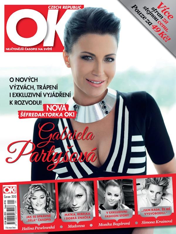 Gabriela Partyšová na titulní straně časopisu, který podle oficiální zvěsti vedla