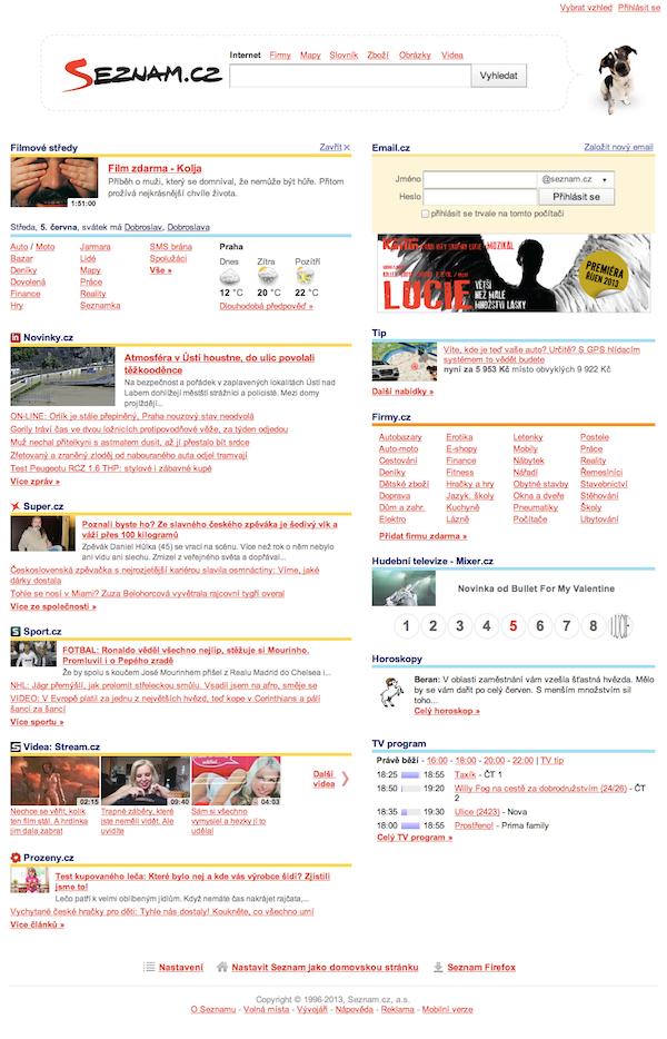 Na šest hodin v týdnu mají filmy prioritní pozici na homepage s 5 miliony návštěvníků denně