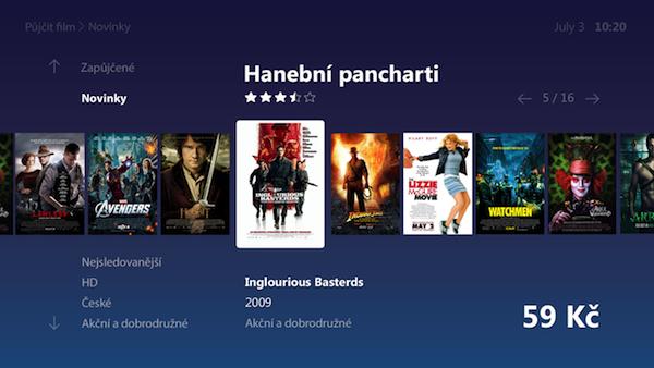 Budoucí podoba O2 TV: videotéka