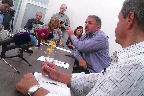 Babišovi lidé se dnes podruhé setkali s novináři, opět v pražské Panské ulici, sídle štábu