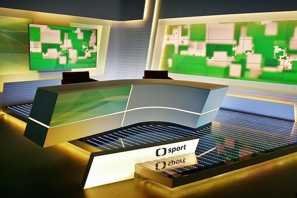 Nové vysílací studio kanálu ČT Sport. Foto: Česká televize