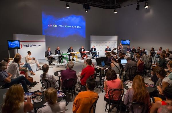 Tisková konference ČT proběhla v ateliérech na Kavčích horách. Foto: ČT