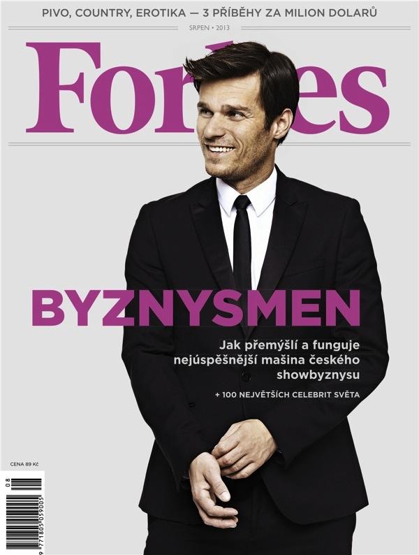 Obálka srpnového Forbesu s Leošem Marešem