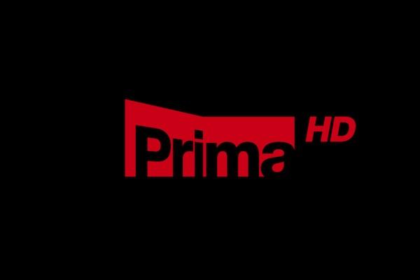 Logo Prima HD na tmavém podkladu