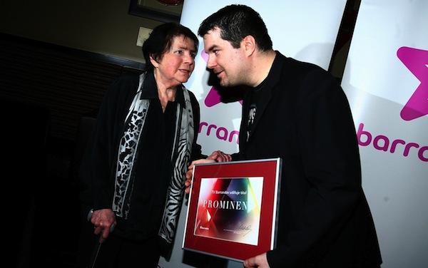 Žena za pultem Jiřina Švorcová na večírku televize Barrandov v únoru 2011. Foto: Profimedia.cz