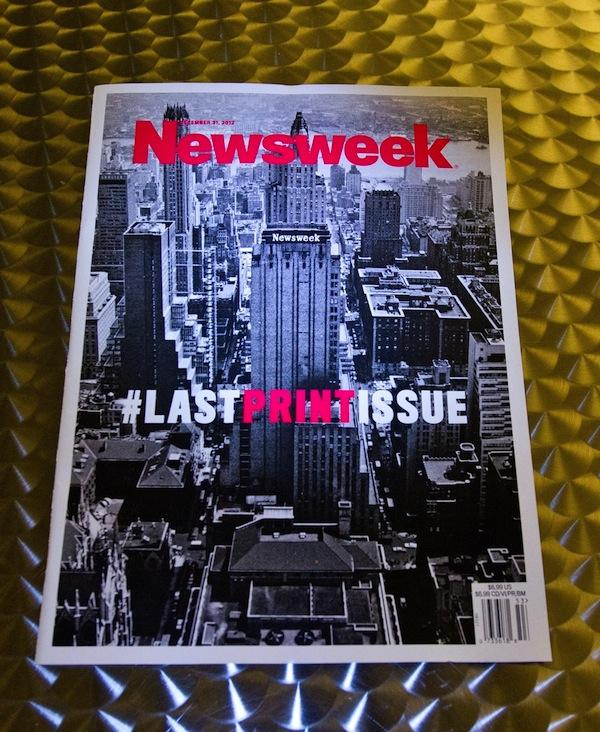 Poslední tištěné číslo Newsweeku vyšlo v prosinci 2012, po 80 letech jeho existence. Foto: Profimedia.cz