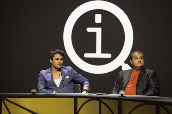 Leoš Mareš a Patrik Hezucký v show QI televize Prima. Foto: TV Prima