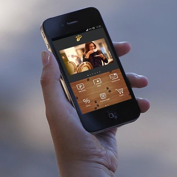 Mobilní aplikace Tchibo v mobilu