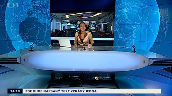 Studio s moderátorkou Zuzanou Tvarůžkovou. Repro: ČT24