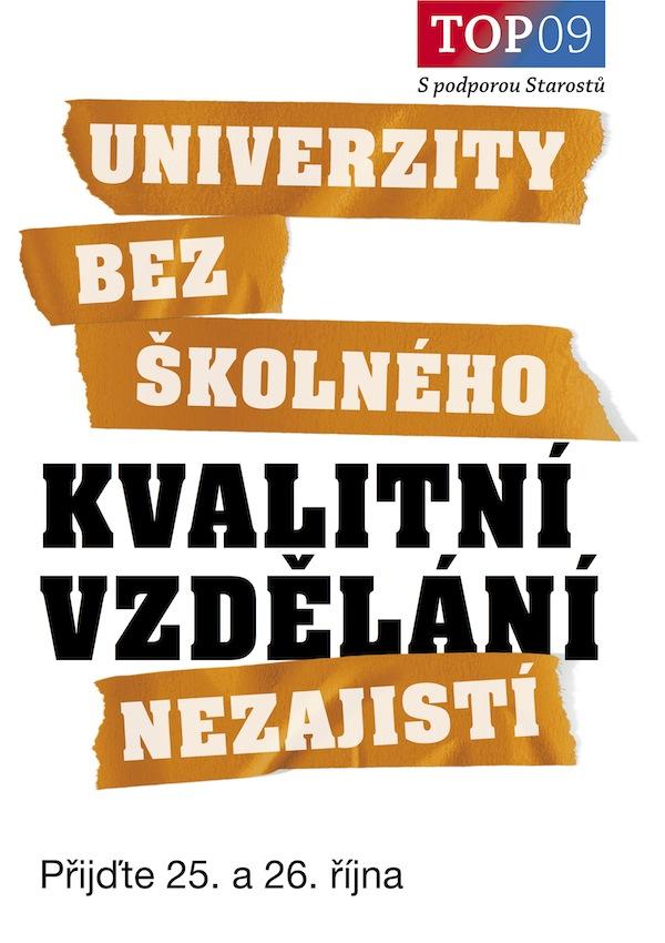 Kampaň TOP 09: Kvalitní vzdělání