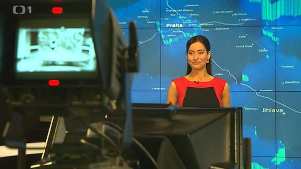 Moderátorka Alexandra Nosková. Repro: ČT24