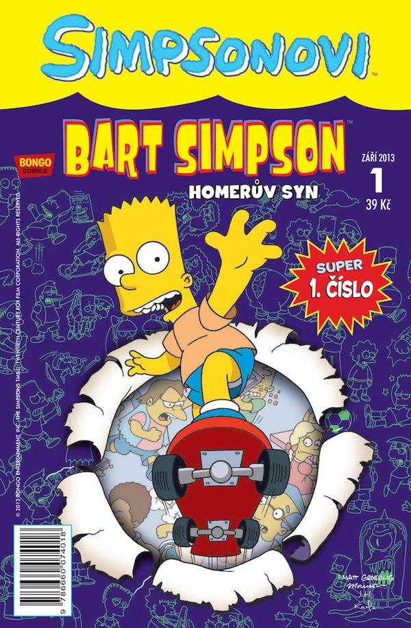 Titulní strana měsíčníku Bart Simpson