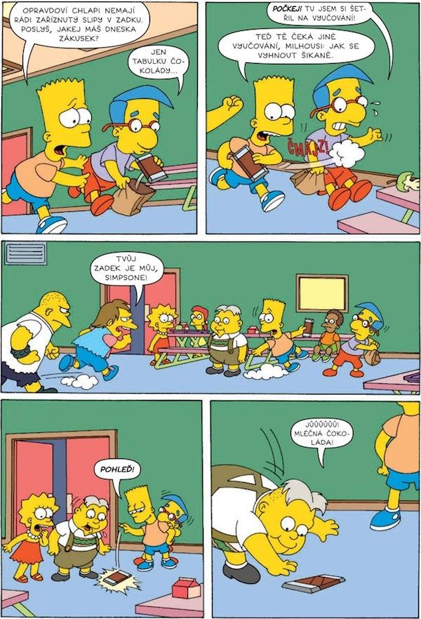 Ukázka z měsíčníku Bart Simpson