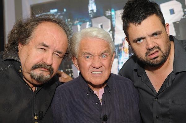 Petr Novotný, Jiří Krampol, a šéf Extra.cz Pavel Novotný. Foto: TV Relax