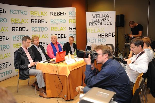 Skupina Pohoda, tedy stanice Relax, Rebel a Retro, se představily loni v pražském hotelu Jasmine. Foto: TV Relax