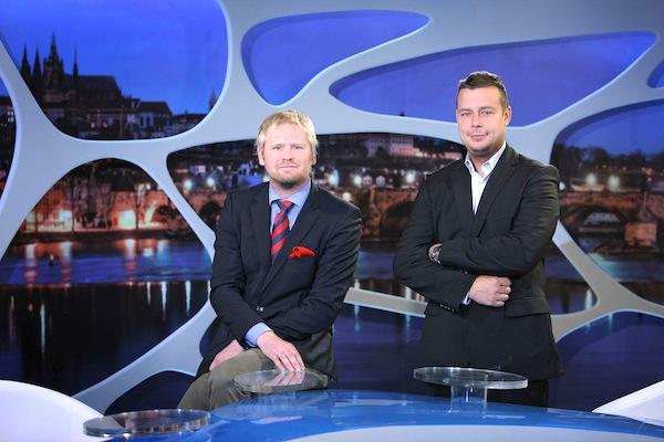 Jaroslav Plesl a František Nachtigall ve studiu Témat Týdne. Foto: TV Barrandov