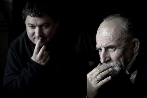 Velké bourání: Martin Huba jako Tomáš Garrigue Masaryk s režisérem Robertem Sedláčkem. Foto: ČT