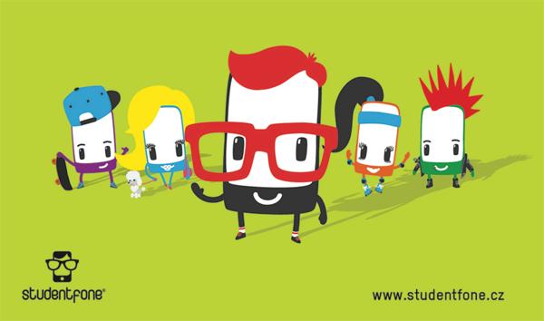 Postavy kampaně virtuálního operátora Studentfone