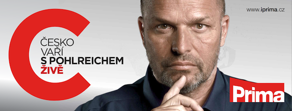 Pohlreichův nový pořad propaguje Prima na venkovních plakátech