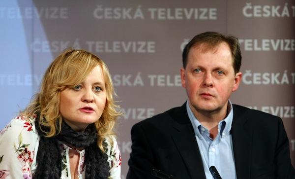 Pavlína Kvapilová a Petr Dvořák při prezentaci projektu Krizová mapa Česka. Foto: Petr Hornik / Právo / Profimedia.cz