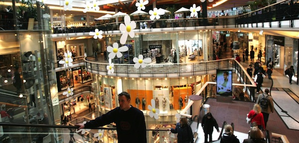 Palladium sestává z několika pater obchodů a služeb. Foto: Profimedia.cz