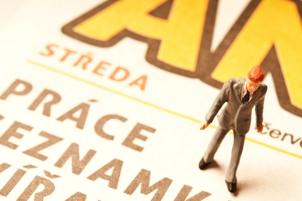 Tištěná Annonce musí najít strategii proti jednoduššeji přístupným online burzám práce