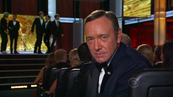 Kevin Spacey na letošním předávání cen Emmy. Foto: Profimedia.cz