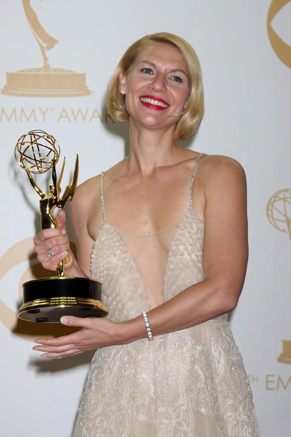 Claire Danes oceněna na Emmy za nejlepší ženský herecký výkon v seriálu Homeland. Foto: Profimedia.cz