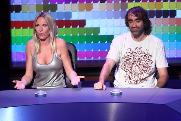 Hosty čtvrtého dílu QI byli Diana Kobzanová a Jakub Kohák. Foto: TV Prima
