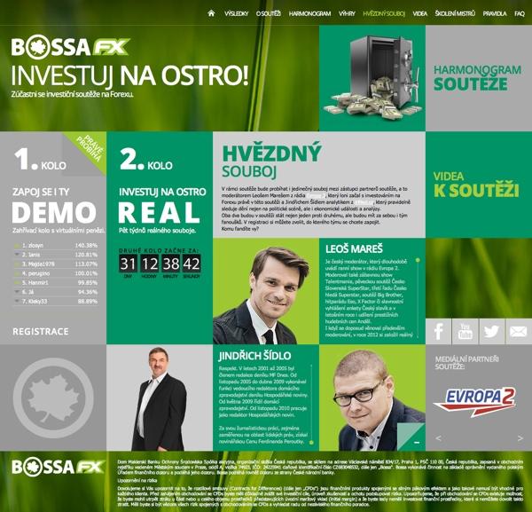 Investiční soutěž firmy Bossa