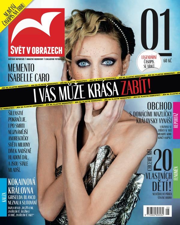 Titulní strana obnoveného časopisu Svět v obrazech