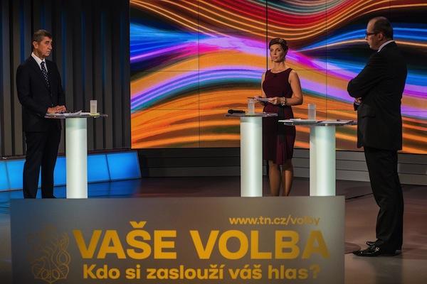 Studio pro volební diskuse na Nově. Foto: TV Nova