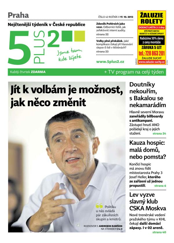 Titulní strana 5plus2 ze 17. října