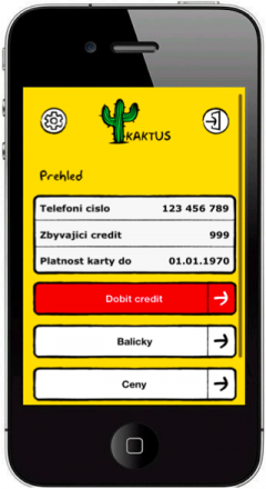 Mobilní aplikace Kaktusu