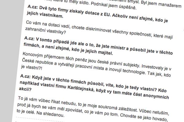 František Koníček v rozhovoru s Aktuálně.cz
