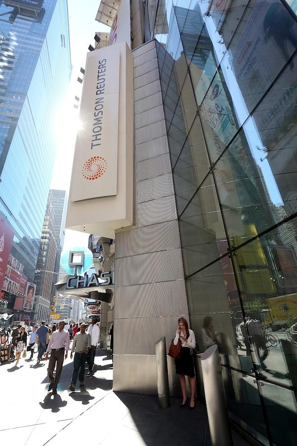 Ústředí Thomson Reuters na newyorském Times Square. Foto: Profimedia.cz