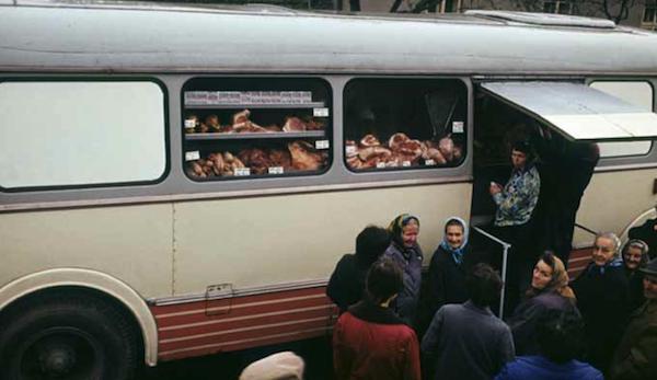 Pojízdná prodejna masa