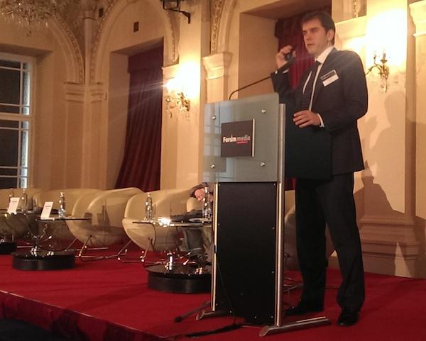 Sergej Novikov na Foru Media na pražském Žofíně