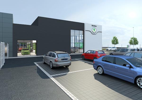 Nový design prodejen Škoda Auto: exteriér